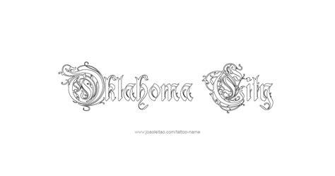 oklahoma tattoo designs oklahoma city usa capital city name designs page