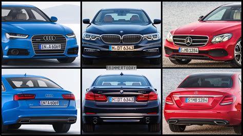 Audi A6 Vs Bmw 5 by Bild Vergleich Bmw 5er G30 Vs Audi A6 Und Mercedes E Klasse