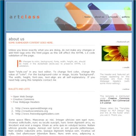 Art Class Template Free Website Templates In Css Html Js Format For Free Download 24 57kb Class Website Template