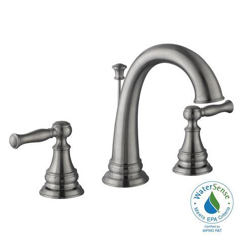 Glacier Bay Brushed Nickel Kitchen Faucet by Glacier Bay Fairway 8 In Widespread 2 Handle High Arc