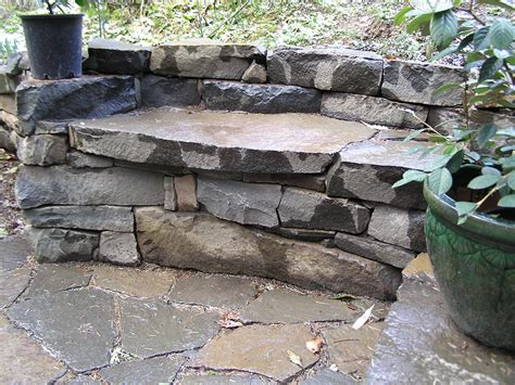 stacked stone bench drystack stone bench cedar sustainable woodwork