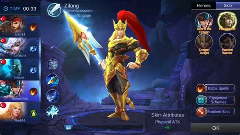 mobile legends  hero zilong youtube