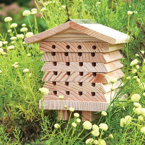 Bee House by The Horticulturist Bee House Hammacher Schlemmer