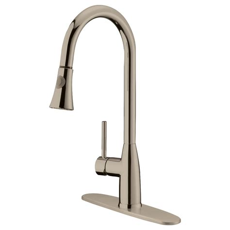 Pull Kitchen Faucet Brushed Nickel - lk5b brushed nickel finish pull kitchen faucet