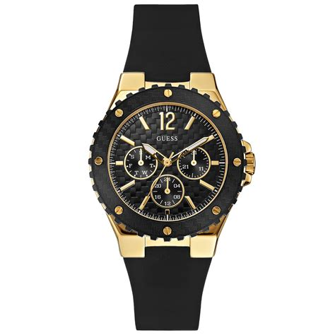 Black Bouverie 40 Mm Watches guess womens black silicone 40mm in black lyst
