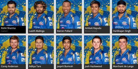 ipl mumbai team players mumbai indians squad list 2015 mumbai indians playing 11