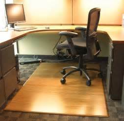 Rubber Floor Mats For Office Chairs Bamboo Chair Mat For Office Carpet Or Wood Floors