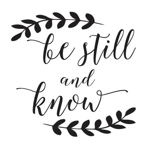 printable stencil quotes stencil be still and know 12x12 for painting signs wood