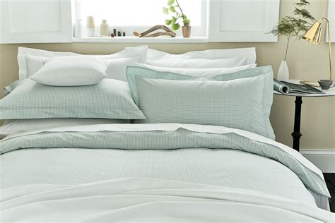 duck egg bed linen luxury duck egg bedding gingham check bed linen at