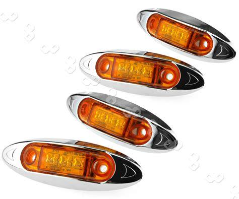 boat trailer side marker lights 4x3led 12v side marker lights indicators amber boat