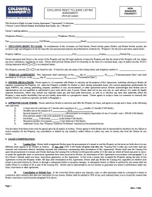 exclusive rights contract template bill of sale form florida commercial lease templates