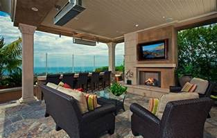 Best Outdoor Spaces - tv above fireplace design ideas