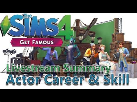 actor sims 4 sims 4 actor career news get famous livestream summary