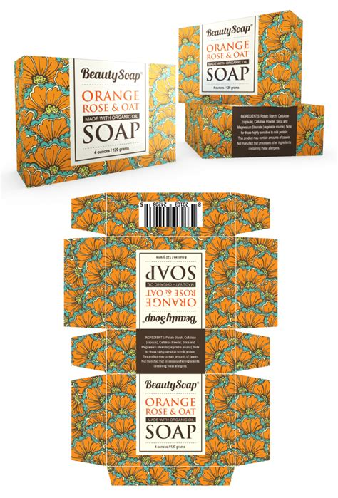 Organic Soap Packaging Template Soap Packaging Design Template