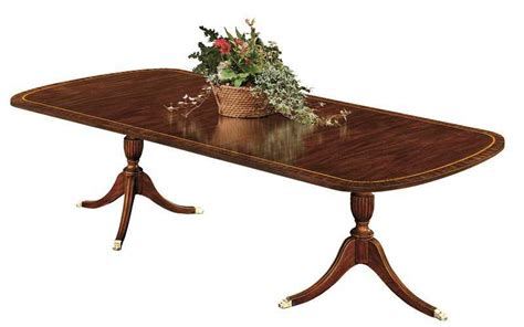 henkel harris dining room table henkel harris 72 x 46 rectangular double pedestal dining