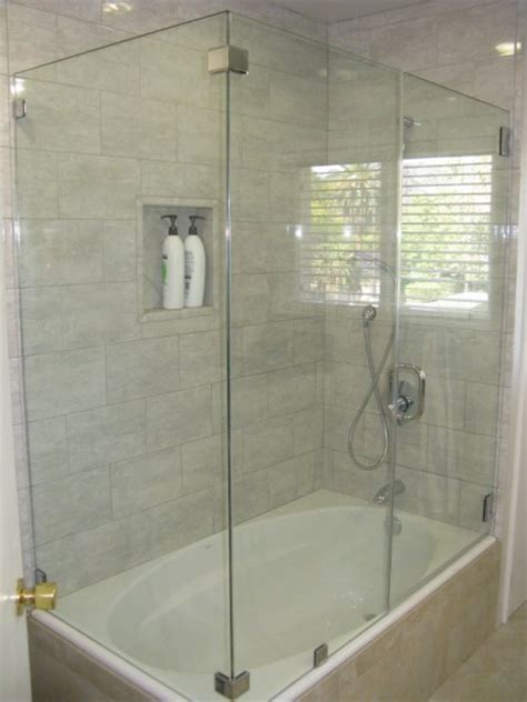 Tub With Glass Shower Door Glass Shower Doors Bathtub Home Improvement