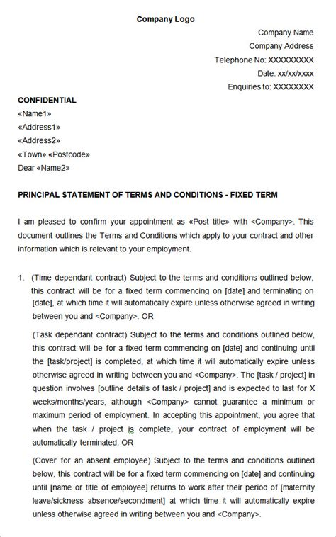 terms of employment contract template 14 hr contract templates hr templates free premium