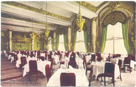 Oak Room Louisville by Vintage Post Cards From Louisville The Seelbach Hotel