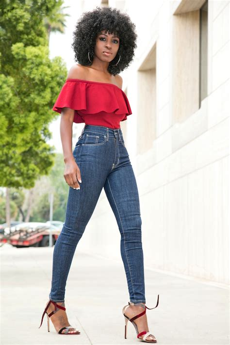 Highwaist Up Slice 27 30 shoulder frill blouse high waist levi s style pantry waysify top picks for fall