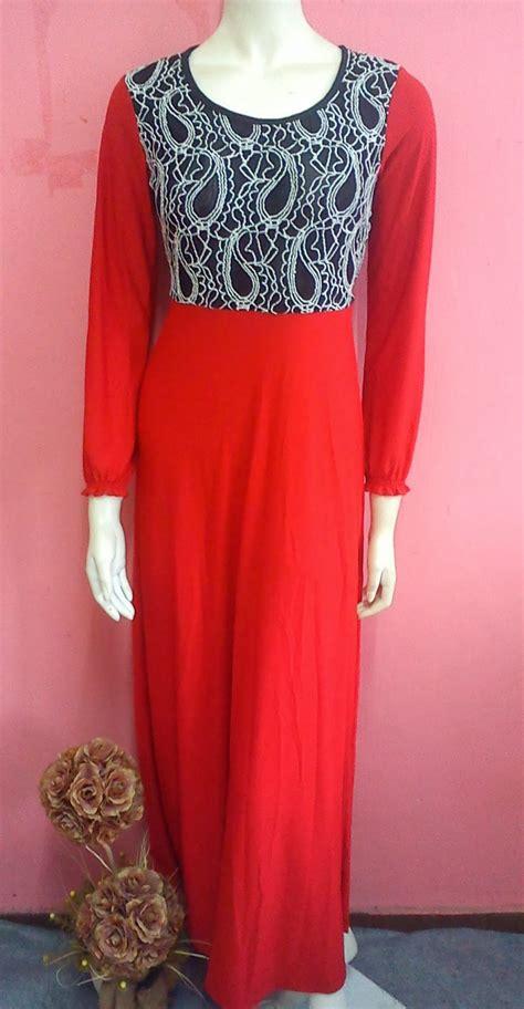 Dress Hitam Merah butik anggun pesona koleksi 124 maxydress lace sold out
