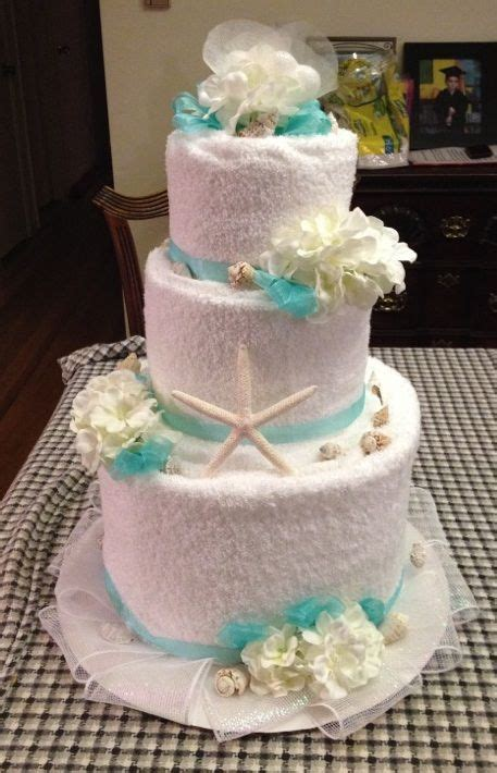 towel cakes for bridal shower ideas towel cake front for bridal shower theme