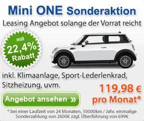 Bmw 1er Leasing 199 Euro Ohne Anzahlung by Mini One Leasing Sonderaktion F 252 R Den Kleinwagen