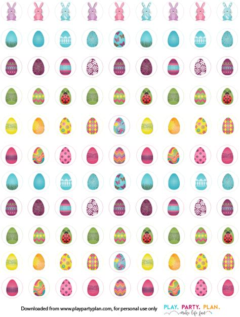 printable egg stickers three great easter games for kids play party plan