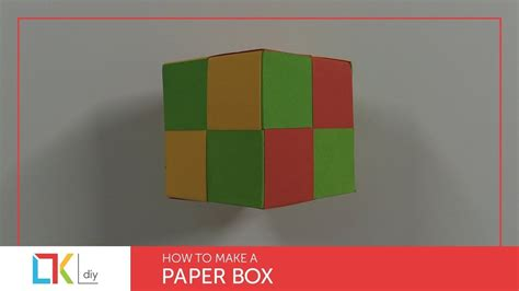 How To Make Paper Cutouts - diy paper crafts 7 how to make a paper box cube my
