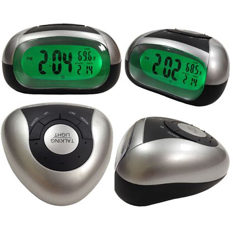 loud talking alarm clock with time and temperature for low vision or blind ebay