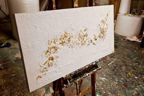 White Gold Abstract Top Size Sml original gold white textured abstract painting modern by osnat ebay