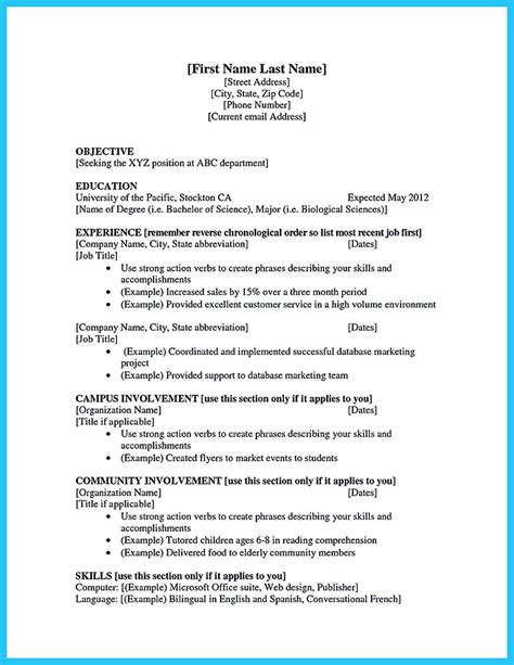 how to make a college resume how to make a resume with no