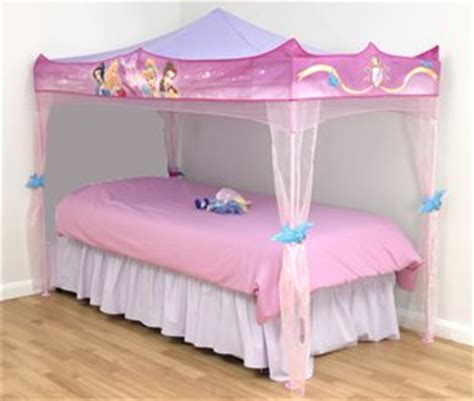 Disney Princess Bed Canopy Stands Over Single Size Bed Disney Princess Canopy Bed