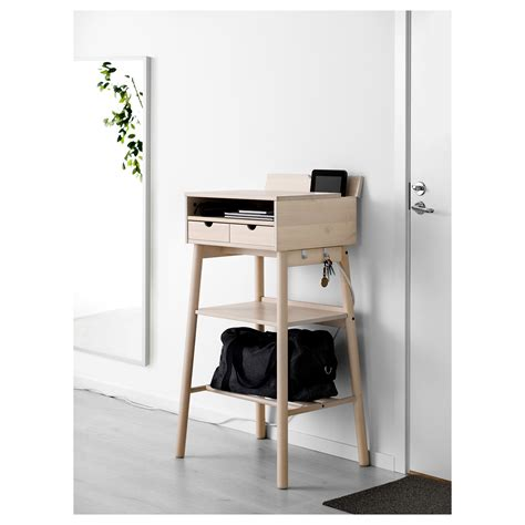 knotten standing desk white birch ikea
