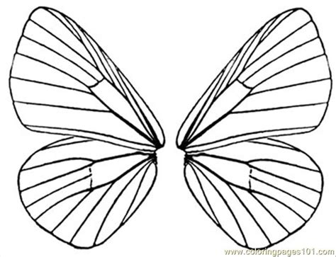 butterfly wing template wings to color free printable coloring page
