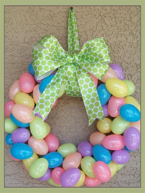 how to make an easter wreath with plastic eggs