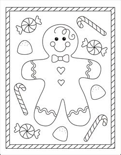 cute gingerbread man coloring page free christmas coloring pages gingerbread man coloring