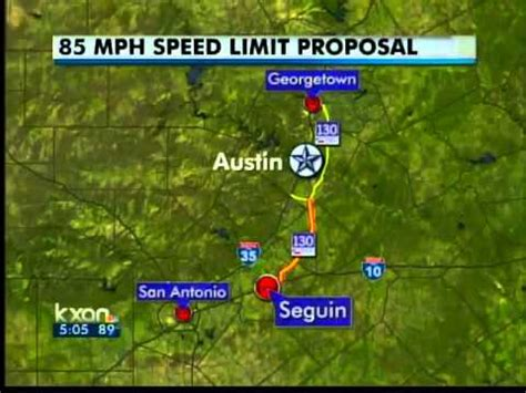 texas speed limit 85 map zoom highway 130 may get 85 mph limit