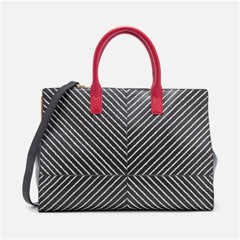 Lulu Guinness Striped Maddy Tote by Lulu Guinness S Diagonal Stripes Tote Bag