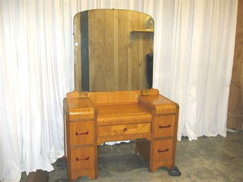antique waterfall bedroom furniture waterfall standard size bed and dresser with mirror for