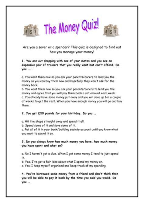 quiz questions ks3 managing your money quiz maths starter by rhianrebecca