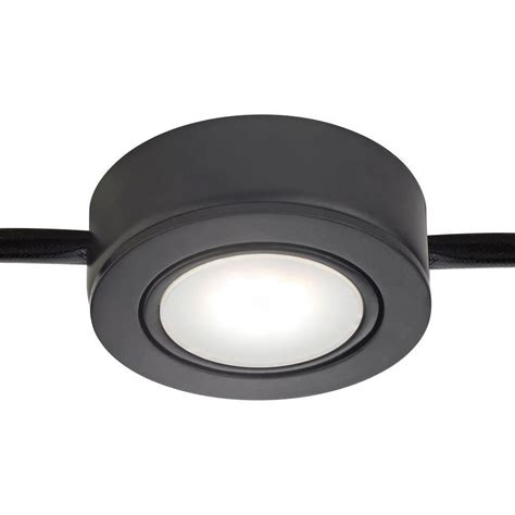 Irradiant 2 Light 120 Volt Black Under Cabinet Xenon Puck 120 Volt Cabinet Lighting