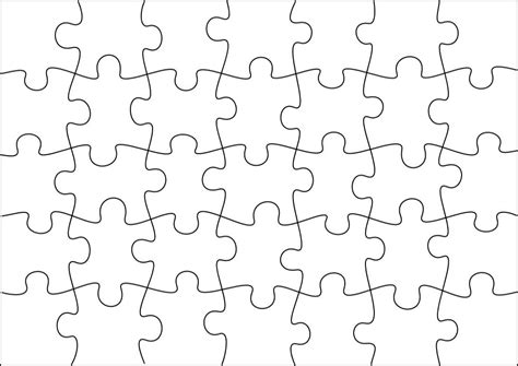 free printable jigsaw templates blank template of 8 x 11 puzzle piece search results