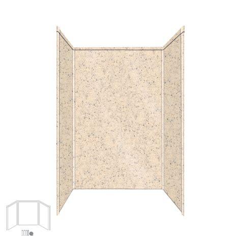 Fiberglass Shower Panels by Shop Transolid Decor Matrix Khaki Sunset Sand Fiberglass