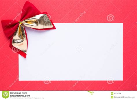 blank christmas card or invitation with decorations stock