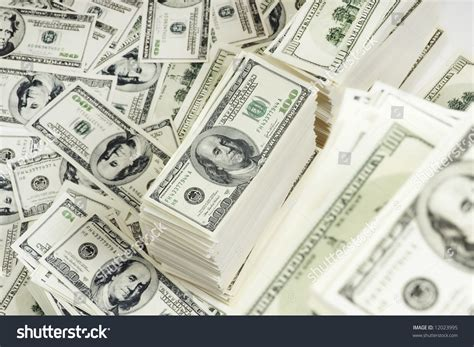 Stack 100 Bills Us Currency On Stock Photo 12023995 ... $100 Bill Stack