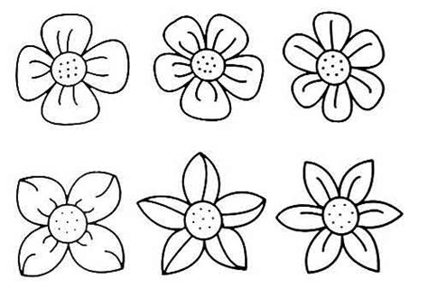 coloring pages of different types of flowers раскраска для детей цветок детские раскраски