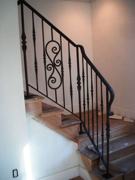 interior wrought iron railing home decor