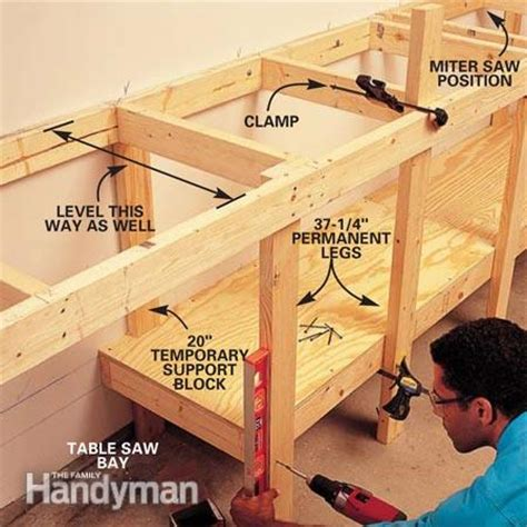 How To Best Organize Kitchen Cabinets - modular workbench the family handyman
