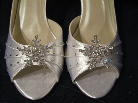Brautschuhe Winter by Winter Wedding Bridal Shoes With Snowflake Wedding