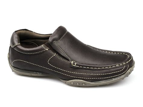 wide fit loafers catesby shoemakers lucas mens wide fit loafers brown buy
